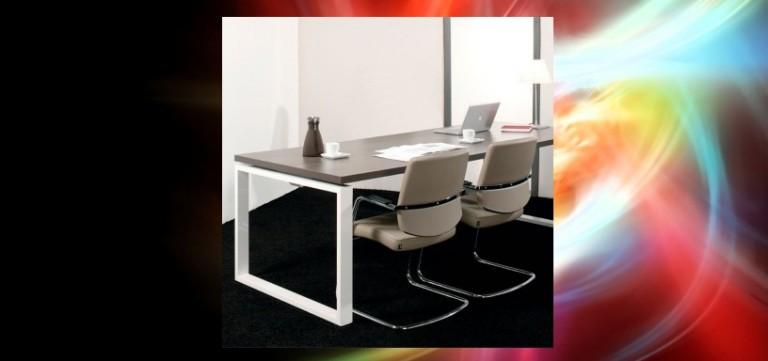 میز اداری کنفرانسی شیشه ای سلنا